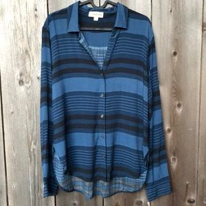 Anthropologie Cloth & Stone Striped Button Down